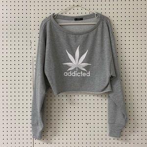 Addicted crop sweatshirt